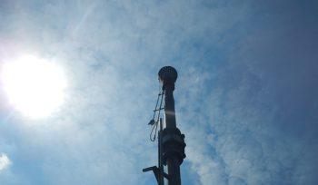 elevated flare sky DWS Biogas 2019